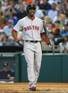 Jul 23, 2015; Houston, TX, USA; Boston Red Sox right fielder Alejandro De Aza (31) during the game against the Houston Astros at Minute Maid Park. Mandatory Credit: Troy Taormina-USA TODAY Sports