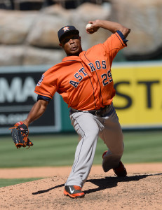 Sep 13, 2015; Anaheim, CA, USA; Houston Astros relief pitcher Tony Sipp (29) throws the ball in the eighth inning against the Los Angeles Angels at Angel Stadium of Anaheim. The The Astros won 5-3. Mandatory Credit: Jayne Kamin-Oncea-USA TODAY Sports