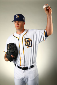 Feb 26, 2016; Peoria, AZ, USA; San Diego Padres pitcher Drew Pomeranz poses for a portrait during photo day at Peoria Stadium. Mandatory Credit: Mark J. Rebilas-USA TODAY Sports