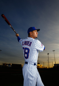 Feb 29, 2016; Mesa, AZ, USA; Chicago Cubs outfielder Albert Almora poses for a portrait during photo day at Sloan Park. Mandatory Credit: Mark J. Rebilas-USA TODAY Sports