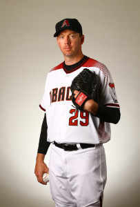 Feb 28, 2016; Scottsdale, AZ, USA; Arizona Diamondbacks pitcher Brad Ziegler poses for a portrait during photo day at Salt River Fields at Talking Stick. Mandatory Credit: Mark J. Rebilas-USA TODAY Sports